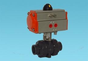 PVC气动球阀